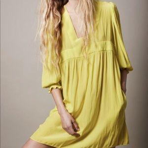 Smythe chartreuse dirndl dress